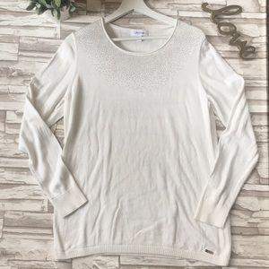Calvin Klein Sparkle Collar Sweater